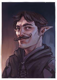 M half elf ranger rogue fighter bard