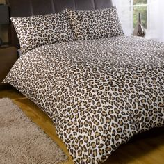 King Size Duvet Covers, Bed Covers, Duvet Cover Sets, Duvet Bedding, Bedding Sets, Brown Leopard, Double Beds, My Room, My Dream Home
