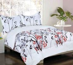 With Love Home Decor - Kids Bedding- Lincoln Park- Black/ Red/ Gray Bed in a Bag Grey Comforter, Red Bedding, Comforter Sets, Girls Full Bed, Luxury Duvet Covers, Bed In A Bag, Love Home, Red And Grey, Queen Beds