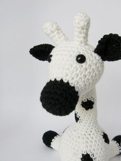 Amigurumi Giraffe Baby Toy Rattle  organic cotton  by ByMarika