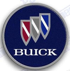**** FREE SHIPPING WITH THE US *** BUICK - IRON ON 100% EMBROIDERED EMBROIDERY PATCH - AUTO CAR 2.0 X 2.0 INCHES 100% EMBROIDERED PATCHES - SEW IT ON OR IRON IT ON OR JUST ADD TO YOUR