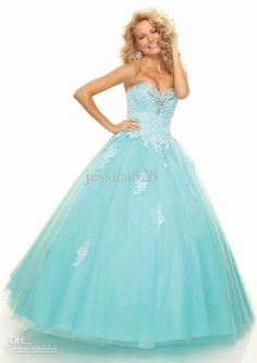Wholesale 2013 Hot Sale Ball Gown Prom Dress Sweetheart Ruche Applique Tulle Lace Up Ankle Length Party Dress, Free shipping, $145.6-164.64/Piece | DHgate I think this would be beautiful on my daughter for senior prom.