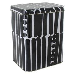 Aarikka - Sisustaminen : Palko-purkki Metal Tins, Outdoor Furniture, Outdoor Decor, Accent Pieces, Retro Fashion, Black And White, Storage, Inspiration, Vintage