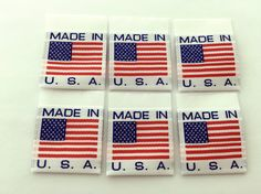 Made in USA Folded Woven Labels Sewing Label Sew On by wunderlabel