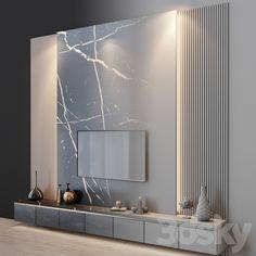 3d models: TV Wall - tv set 99 Living Room Partition Design, Room Partition Designs, Living Room Tv Unit Designs, Modern Tv Room, Modern Tv Wall Units, Bedroom Tv Wall, Wall Tv, Living Tv, Home Room Design
