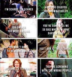 The Walking Dead season 4 amazing quotes aw what they need, I'm done taking breaks, I win, we all change, and I was just another monster Walking Dead Season 4, Walking Dead Funny, Walking Dead Zombies, Fear The Walking Dead, Stuff And Thangs, Dead Man, Daryl Dixon, American Horror Story, Amazing Quotes