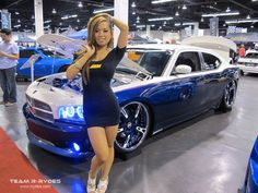 Ten Reasons Why People Love Customised Cars Car Girls, Pin Up Girls, Why People, American Muscle Cars, Hot Cars, Mopar, Custom Cars, Classic Cars, Dodge Chargers