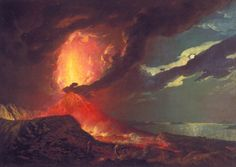 Vesuvius in Eruption, with a View over the Islands in the Bay of Naples, c.1776–80  Joseph Wright of Derby (1734 – 1797)