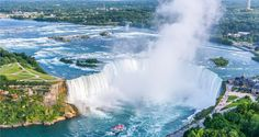 Located on the western bank of the #Niagara River, in Ontario, Niagara Falls is a city whose Municipality was incorporated in 1903. The city shares its name with the famous Niagara Falls which are in fact three waterfalls on the Niagara river.