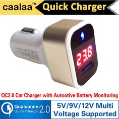 QC2.0 car Charger For Samsung S6 Sony Xperia Xiaomi Mi4 5V 9V 12V Qualcomm Quick Charge 2.0 smart Car Chager with LED display //     Price: US $6.20 & Free Shipping //     Casesaholic.com //     #cellphonecase   #lifestyle