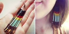 Painted Bobby Pin Earrings | 46 Ideas For DIY Jewelry You'll Actually Want ToWear