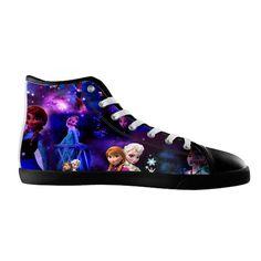 72c2beb995a LAI LAI Women s Black High Top Canvas Shoes Anime frozen Canvas Shoes   Amazon.ca  Shoes   Handbags