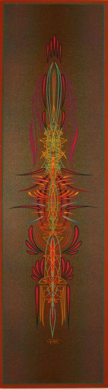 Lot 94 DAVID HENRY HIGHTOWER (b. 1941) PINSTRIPE ENAMEL PANEL