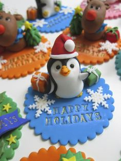 Holidays Cake Toppers by mimicafe Union http://www.mimicafeunion.com