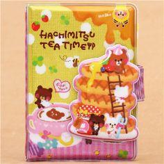 bears with pancakes glitter ring binder sticker album