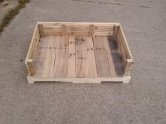"""41"""" x 26"""" pallet dog bed raw (unfinished)."""