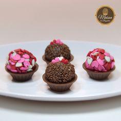 Caixa com 6 brigadeiros gourmet - Dia dos Namorados