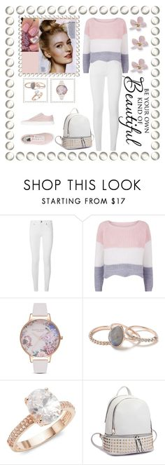 """Untitled #192"" by raimonditeliuke ❤ liked on Polyvore featuring Burberry, Olivia Burton, Miss Selfridge, Saks Fifth Avenue and Vans"