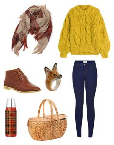 """Picnic"" by tomboyfeminist on Polyvore featuring John Lewis, Nach, Maison Margiela and Clarks Originals"