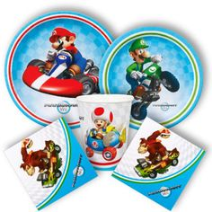 Mario Kart party supplies from www.DiscountPartySupplies.com