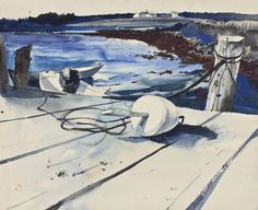 Andrew Wyeth,  Lobster Bouy,  1940,  watercolor and pencil on paper laid on board,
