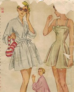 1940's Simplicity 2874 UNCUT Vintage Sewing by midvalecottage, $50.00