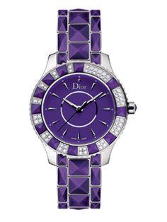 OMG~I just found my dream Dior Purple Crystal Watch~I want it!!!!!!! <3