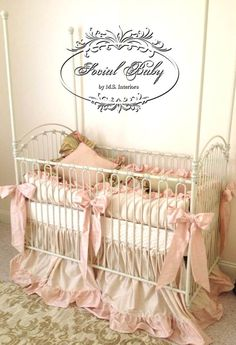 Social Baby Signature Silk Baby Bedding by SocialBabyBedding, $579.00