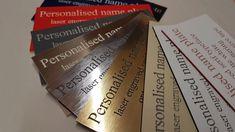 Sans Serif Typeface, Laser Engraving, Names