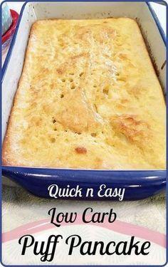 Low carb - Gluten free - Vegetarian - Puff pancakes