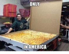 I said i wanted a large pizza! (sarcasm) Great, now I'm hungry! Giant Pizza, Big Pizza, Pizza Pizza, Pizza Meme, Pizza Party, Worlds Largest Pizza, Coca Cola Light, Meanwhile In America, Salad