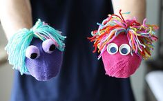 It happens every year, mismatched mittens. Instead of tossing them, let's make some really fun and easy mitten puppets that take almost no time to make.