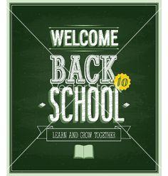 Back to school - chalkboard vector by MiloArt on VectorStock®