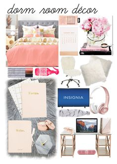 """""""Peach, Gold, and Marble"""" by dianaham ❤ liked on Polyvore featuring interior, interiors, interior design, home, home decor, interior decorating, Oliver Gal Artist Co., Pottery Barn, CB2 and Thrive"""