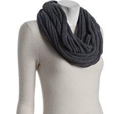 Wyatt grey wool-cashmere knit infinity string scarf