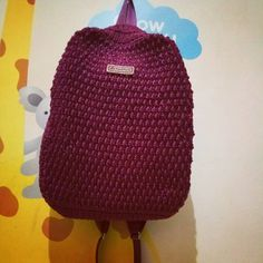 """Alhamdulillah.. #crocheting #crochet #ransel #crochetbackpack #handmade #havefunwithyarn #rajut…"""