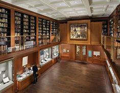 The Grolier Club | Ann Beha Architects; Photo: Michael Moran | Archinect Audio Design, Media Wall, Learning Spaces, Exhibition Space, Design Case, Walnut Wood, Wood Paneling, Architects, Custom Design