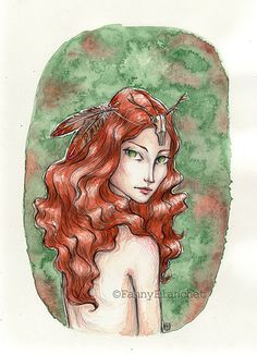 """""""Alanah"""" by Fanny Blanchet http://nynille.canalblog.com/archives/2013/10/01/28128593.html #elf #fairy"""