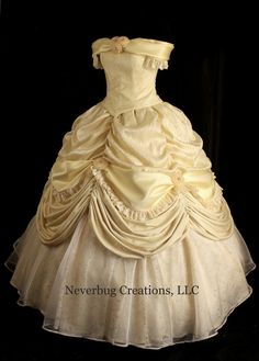 Adult Beauty and the Beast New Parks Costume Butter Yellow