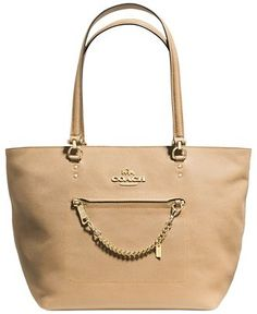 COACH TOWN CAR TOTE IN CROSSGRAIN LEATHER - Coach Handbags - Handbags & Accessories - Macy's