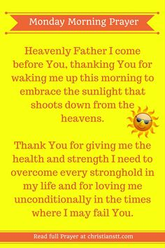 Monday Morning Prayer Pin