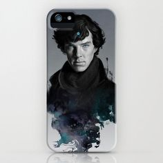 Sherlock Holmes Cover iPhone 4 / 5 Case by Society69 on Etsy, $15.00