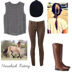 Horseback Riding by geriksen on Polyvore featuring polyvore, fashion, style, MANGO, Brunello Cucinelli and Tory Burch