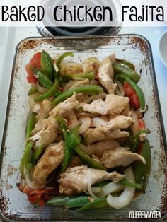 This easy Baked Chicken Fajita Recipe is low sodium and has no added sugar - a homemade seasoning blend makes this healthier & more delicious than ever! | Healthy Chicken Dinner | Easy Meals | Meal Planning
