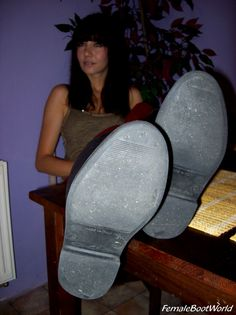 Soles of her Rubber Boots