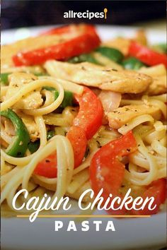 "Cajun Chicken Pasta | ""WOW! I made this last night and it was delicious, totally thought it tasted like I had ordered from a restaurant.""  #pasta #pastarecipes #pastainspiration #pastadinner #pastaideas #pastadinner #pastaideas Best Pasta Recipes, Spicy Recipes, Cooking Recipes, Healthy Recipes, Healthy Meals, Yummy Recipes, Healthy Food, Dinner Recipes, Cajun Chicken Pasta"