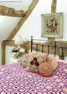 Perfection. The cushions are stunning. As well as the crocheted purple blanket!