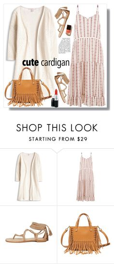 """""""Cute Cardigan"""" by christinacastro830 ❤ liked on Polyvore featuring New Look, Vanessa Bruno, MAC Cosmetics, cutecardigan and springlayers"""