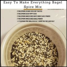 Free Printable Checklist Of Common Spices For Your Kitchen : The Grocery Game Challenge 2018 Mar - Everything But The Bagel Spice Mix keto-friendly and low carb too! Whole Food Recipes, Keto Recipes, Vegetarian Recipes, Cooking Recipes, Cooking Tips, Rub Recipes, Smoker Recipes, Milk Recipes, Food Tips