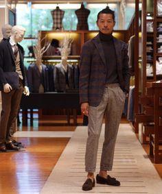 仕立ての軽いジャケットをブラウンのトーンでクラシックに。 Business Attire For Men, Business Casual, Asian Suits, Fashion Killa, Mens Fashion, Men's Collection, Casual Wear, Autumn Fashion, Women Wear